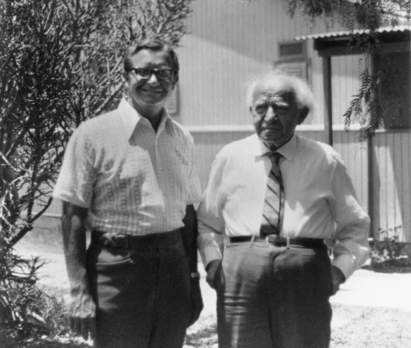 10 Charles E Blair With Israel PM David Ben Gurion