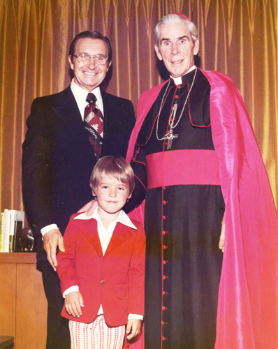 16 Charles E Blair with Bishop Fulton Sheen