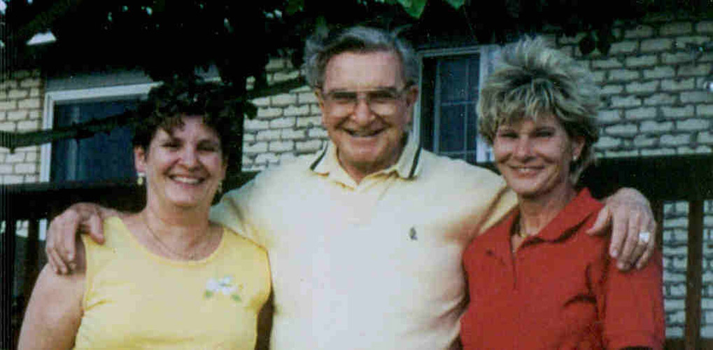 24 Charles E Blair with daughters Judi and Vickie