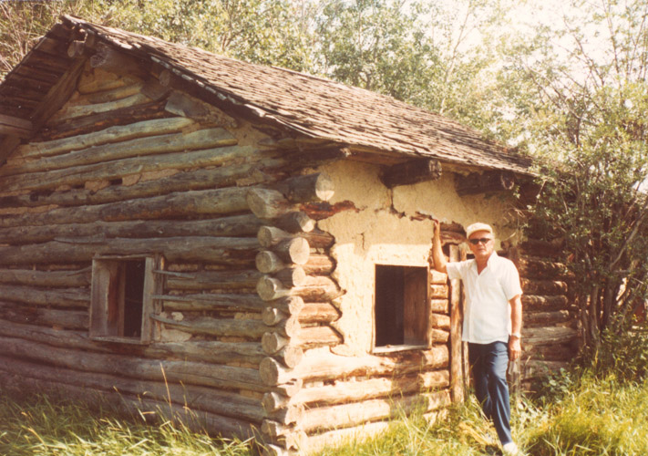 28 Dr Alex W Ness Pioneering Original Cabin in Canada Prairies